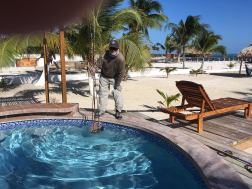 Jamie washes reels Belize